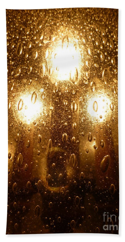 Macro Hand Towel featuring the photograph Macro Lights by Joseph Baril