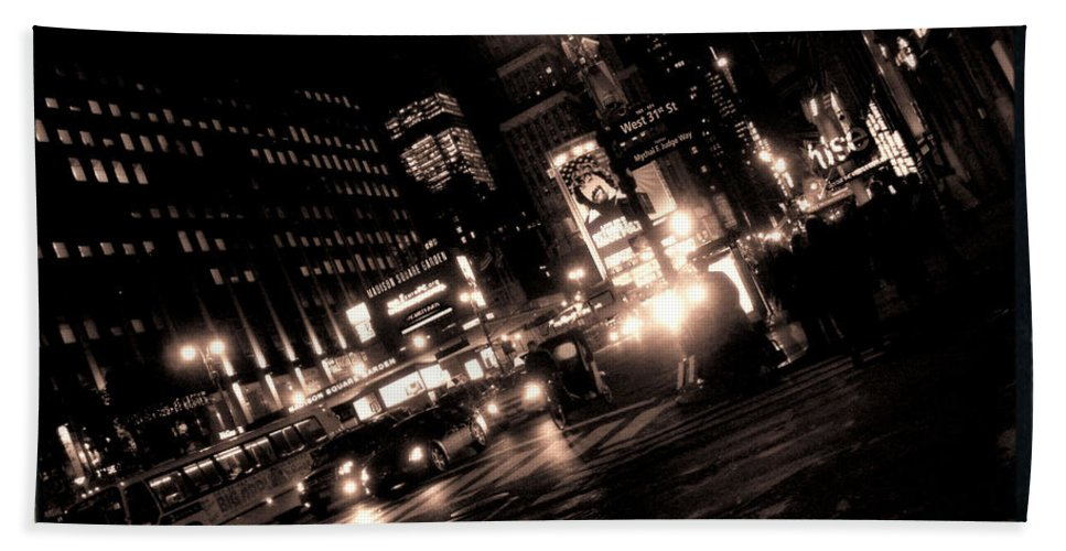 New York Bath Sheet featuring the photograph Madison Square Garden by Donna Blackhall
