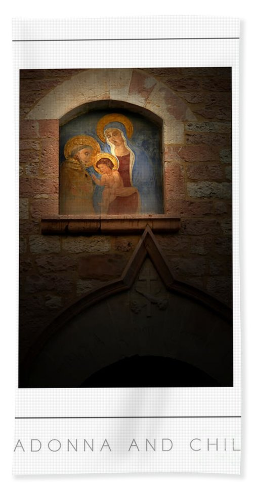 Virgin Mary Hand Towel featuring the photograph Madonna And Child Poster by Mike Nellums