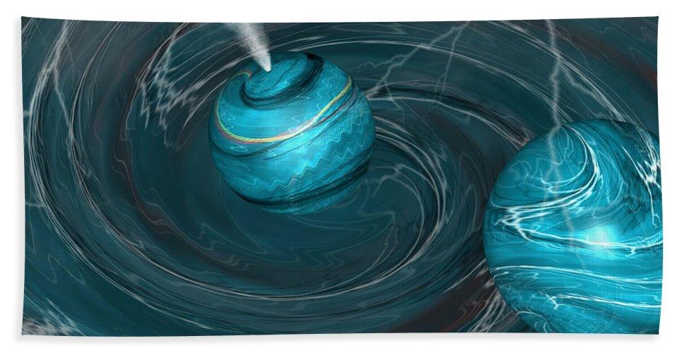 Autenrieb Hand Towel featuring the digital art Maelstrom by Vincent Autenrieb