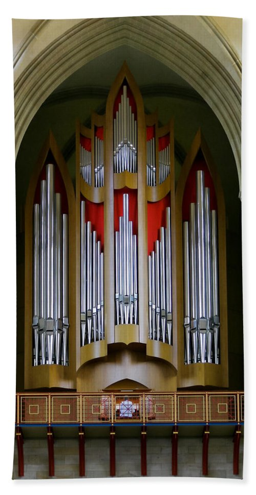 Magdeburg Bath Sheet featuring the photograph Magdeburg Cathedral Organ by Jenny Setchell