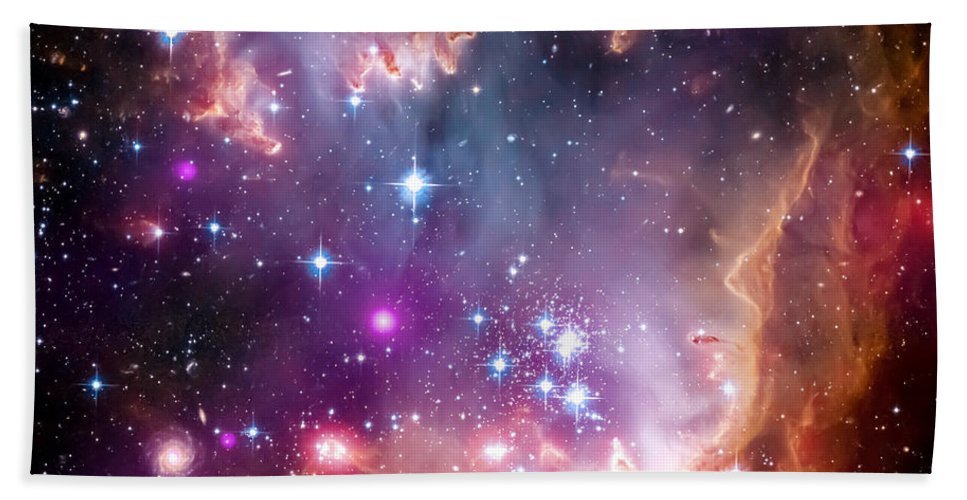 Universe Bath Towel featuring the photograph Magellanic Cloud 3 by Jennifer Rondinelli Reilly - Fine Art Photography