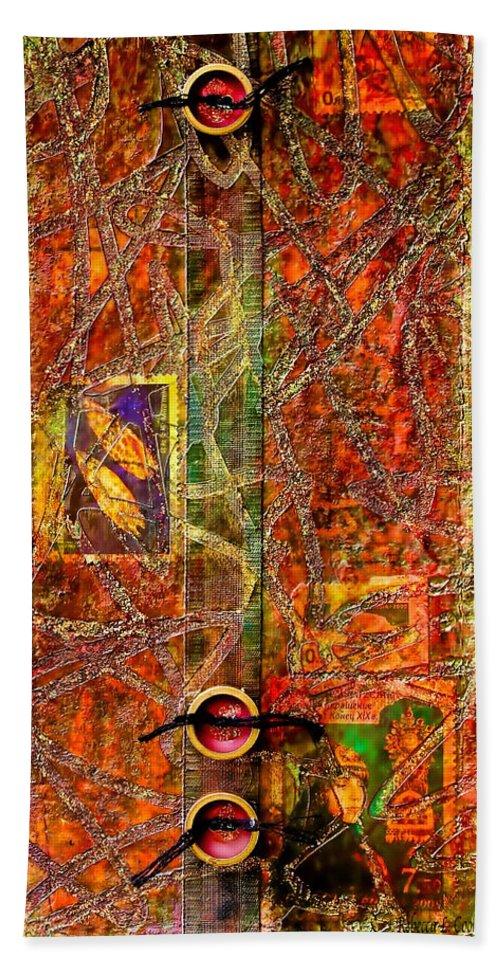 Magic Carpet Bath Sheet featuring the mixed media Magic Carpet by Bellesouth Studio