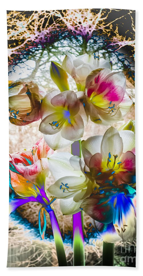 Amaryllis Hand Towel featuring the photograph Magic Flowering by Casper Cammeraat