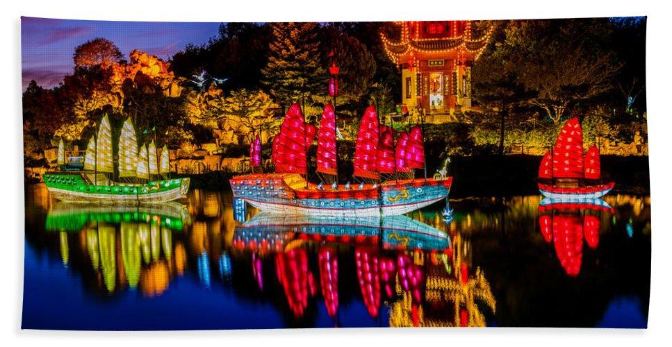 Magic Bath Sheet featuring the photograph Magic Of The Lanterns by Mark Robert Rogers