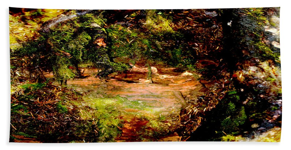 Digital Painting Bath Sheet featuring the painting Magical Forest - Myth - Fantasy by Marie Jamieson