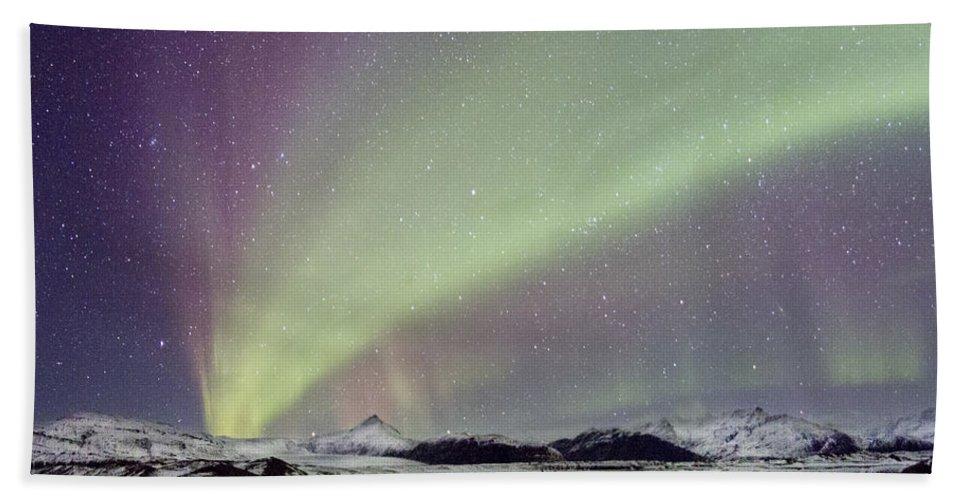 Aurora Bath Towel featuring the photograph Magical Night by Evelina Kremsdorf