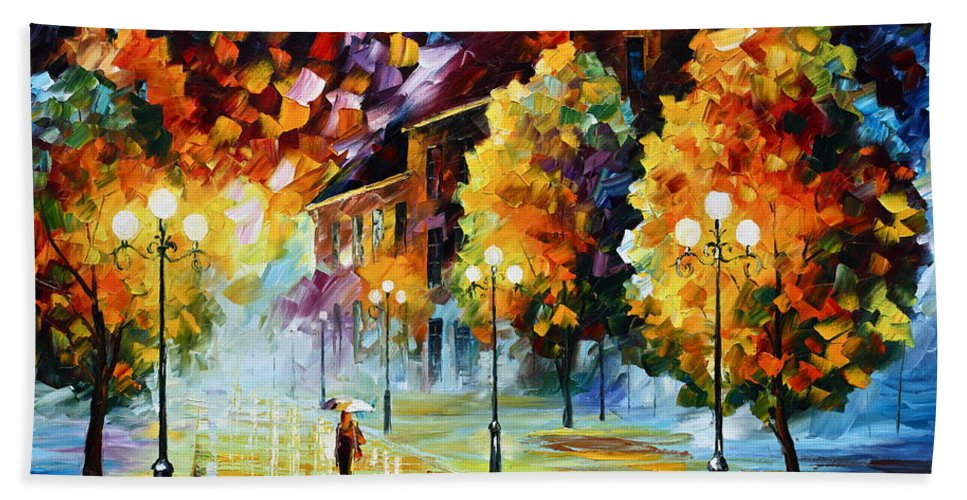 City Bath Sheet featuring the painting Magical Time by Leonid Afremov