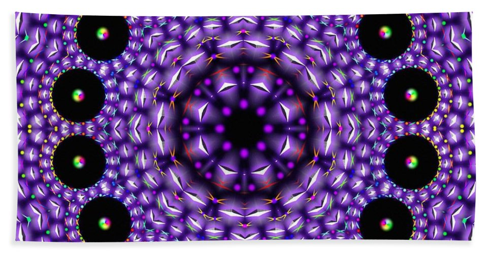 Magnetic Twins Hand Towel featuring the digital art Magnetic Twins by Derek Gedney