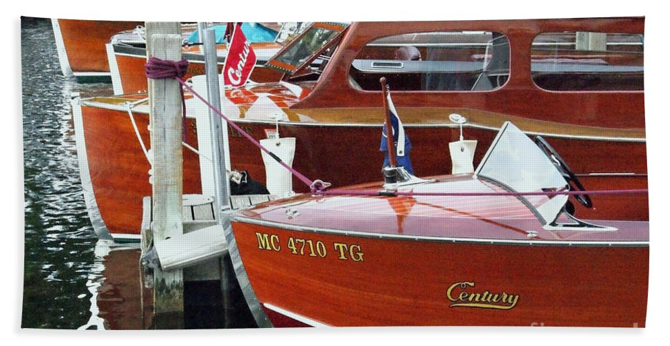 Century Boat Hand Towel featuring the photograph Mahogany by Neil Zimmerman