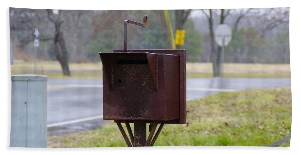Mailbox Hand Towel featuring the photograph Mail Box by Darrell Clakley