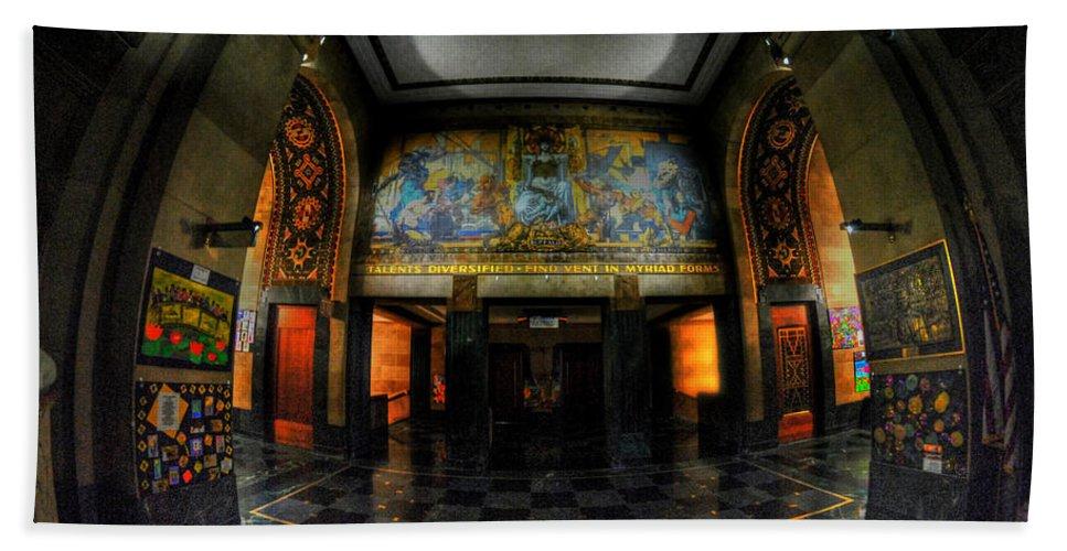 Art Deco Hand Towel featuring the photograph Main Lobby Of City Hall Buffalo Ny Rear by Michael Frank Jr