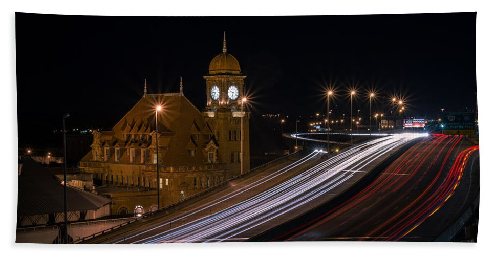 Rva Bath Sheet featuring the photograph Main Street Station by Stacy Abbott