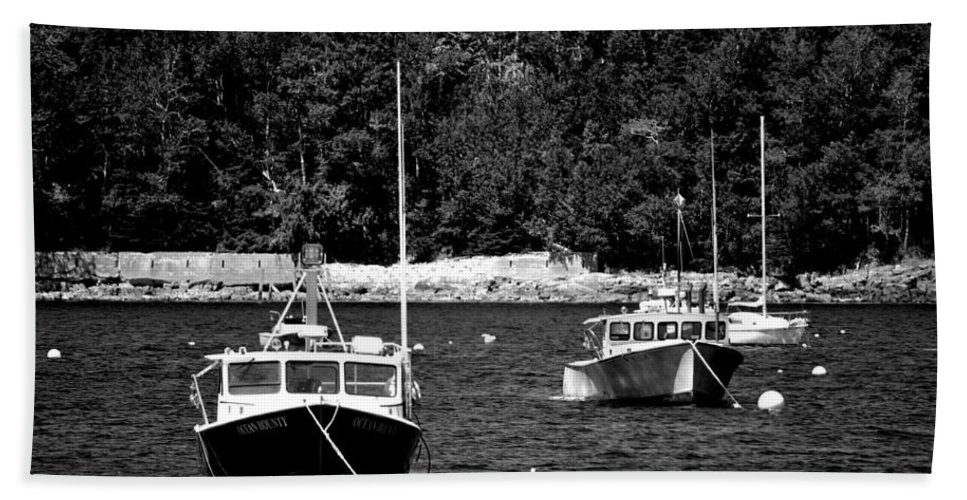 Lobster Boats Hand Towel featuring the photograph Maine Lobster Boats by Tara Potts