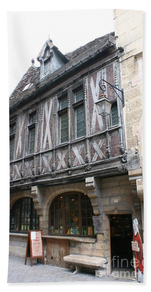 House Hand Towel featuring the photograph Maison Milliere - Dijon - France by Christiane Schulze Art And Photography