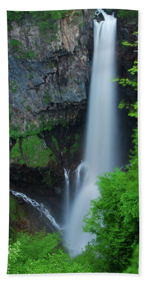 Waterfall Canvas Prints Hand Towel featuring the photograph Majestic Kegon Falls by Jonah Anderson