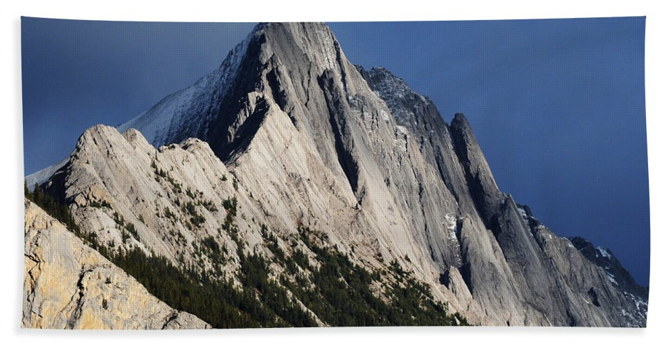 Mountain Hand Towel featuring the photograph Majesty In The Canadian Rockies by Vivian Christopher