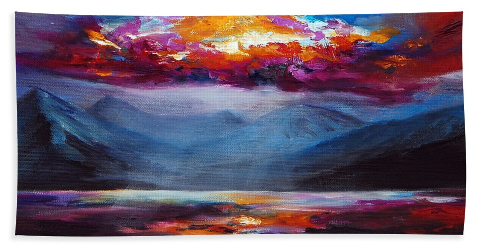 Color Bath Sheet featuring the painting Majesty by Jennifer Hickman