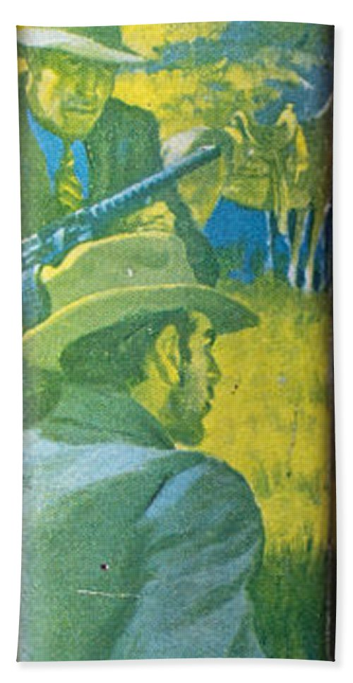 Book Hand Towel featuring the photograph Majesty's Rancho By Zane Grey by Edward Fielding