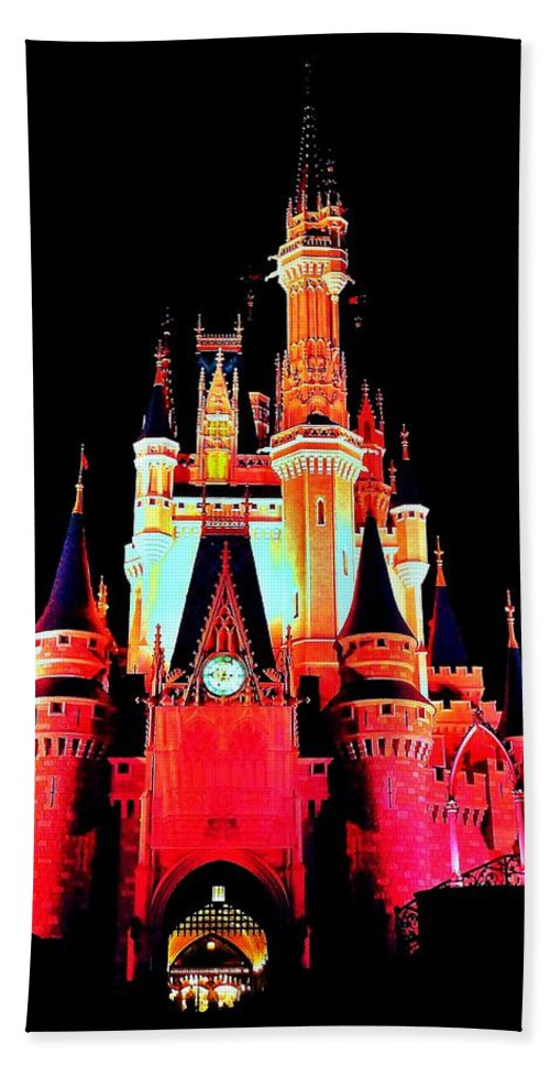 Disney World Bath Sheet featuring the photograph Make It Pink by Benjamin Yeager