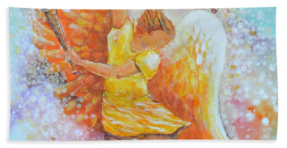 Angel Hand Towel featuring the painting Make Your Soul Shine by Ashleigh Dyan Bayer