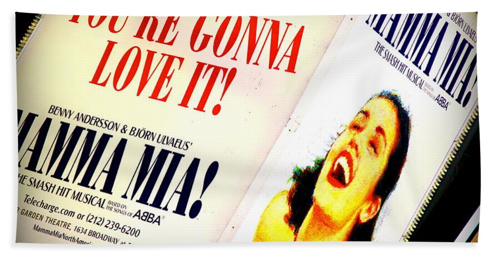Broadway Hand Towel featuring the photograph Mamma Mia by Valentino Visentini