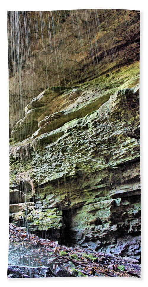 Waterfall Hand Towel featuring the photograph Mammoth Cave 2 by Kristin Elmquist