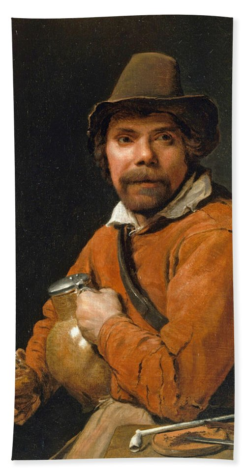 Michiel Sweerts Bath Sheet featuring the painting Man Holding A Jug by Michiel Sweerts