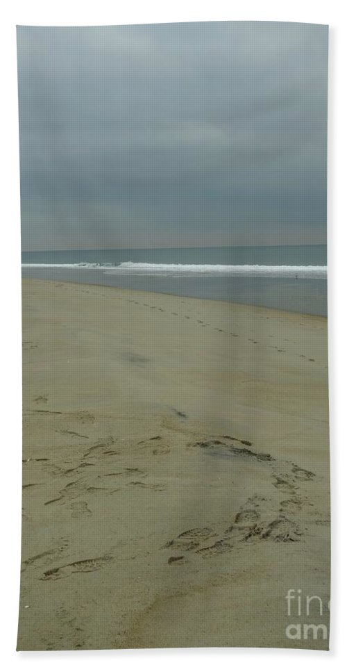 Manasquan Beach Nj Hand Towel featuring the photograph Manasquan Beach Nj by Eric Schiabor