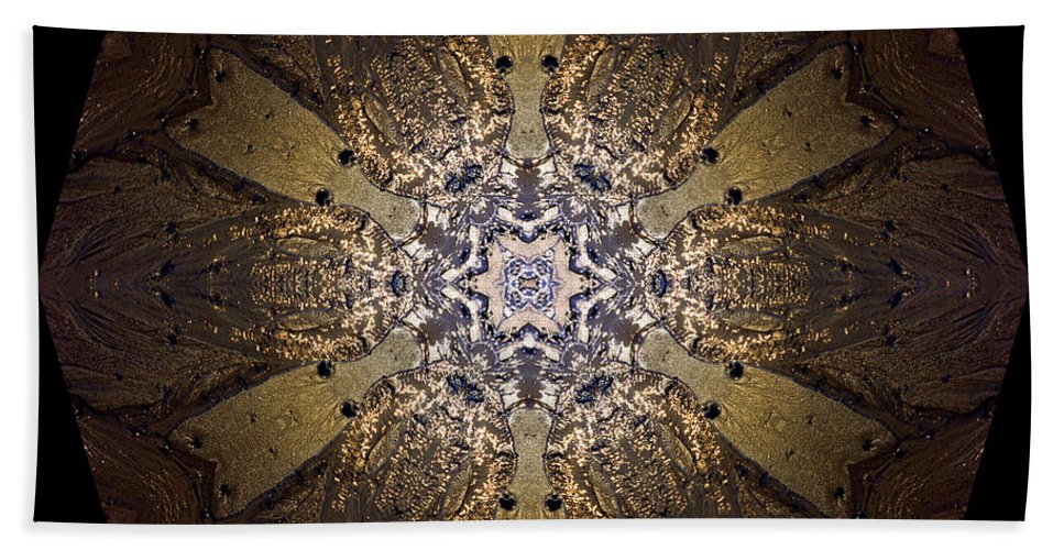 Mandala Bath Sheet featuring the photograph Mandala Sand Dollar At Wells by Nancy Griswold