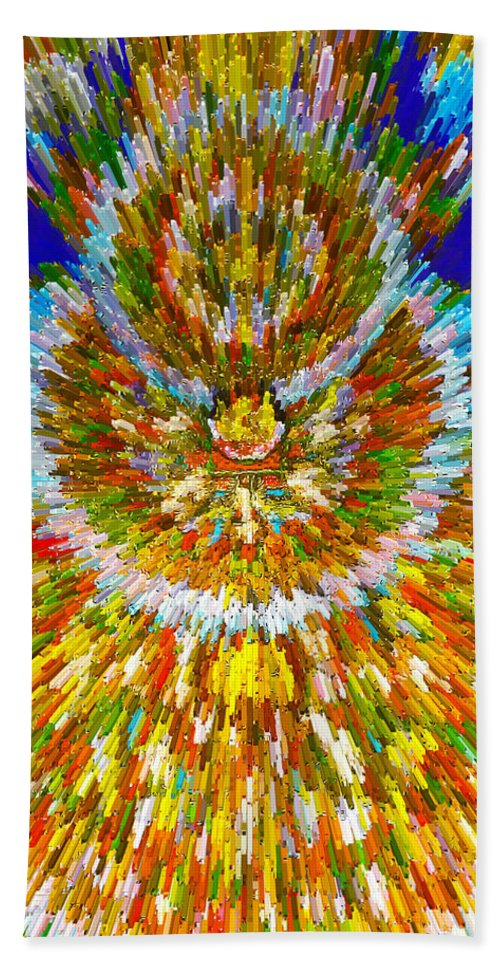 Mandalas Of The Buddha Hand Towel featuring the painting Mandalas Of The Buddha by Jeelan Clark