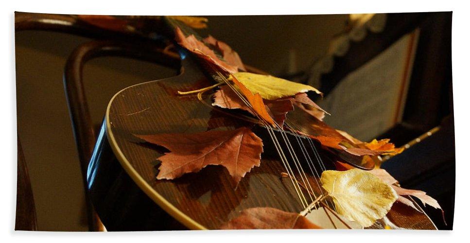 Mandolin Bath Sheet featuring the photograph Mandolin Autumn 3 by Mick Anderson