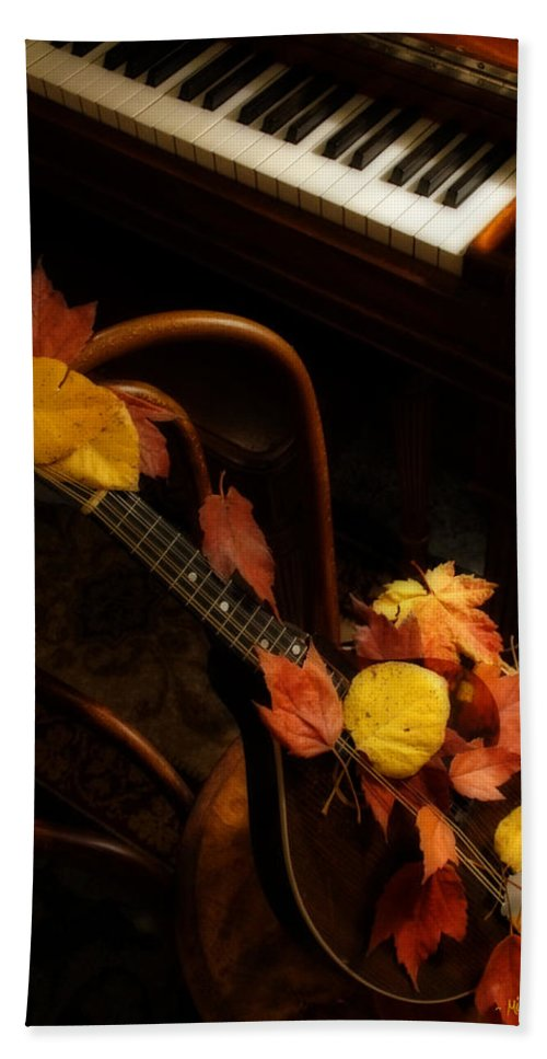 Mandolin Bath Sheet featuring the photograph Mandolin Autumn 5 by Mick Anderson