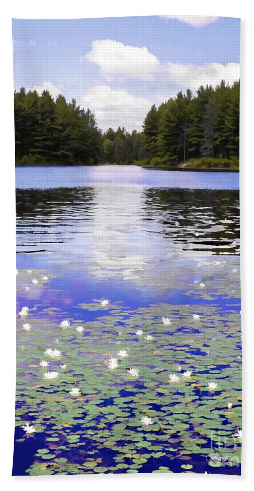 Scenery Hand Towel featuring the photograph Manet's Inspiration by Barbara McMahon
