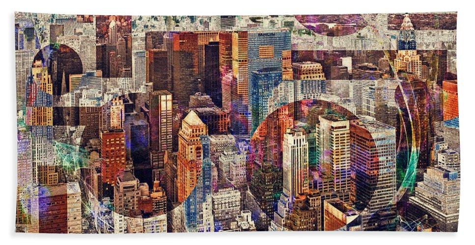 Nag004136c Hand Towel featuring the photograph Manhattan Sunrise by Edmund Nagele