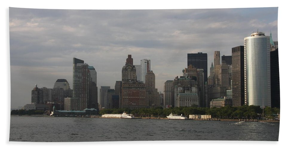 New York City Hand Towel featuring the photograph Manhattan Skyline 2010 by Christiane Schulze Art And Photography