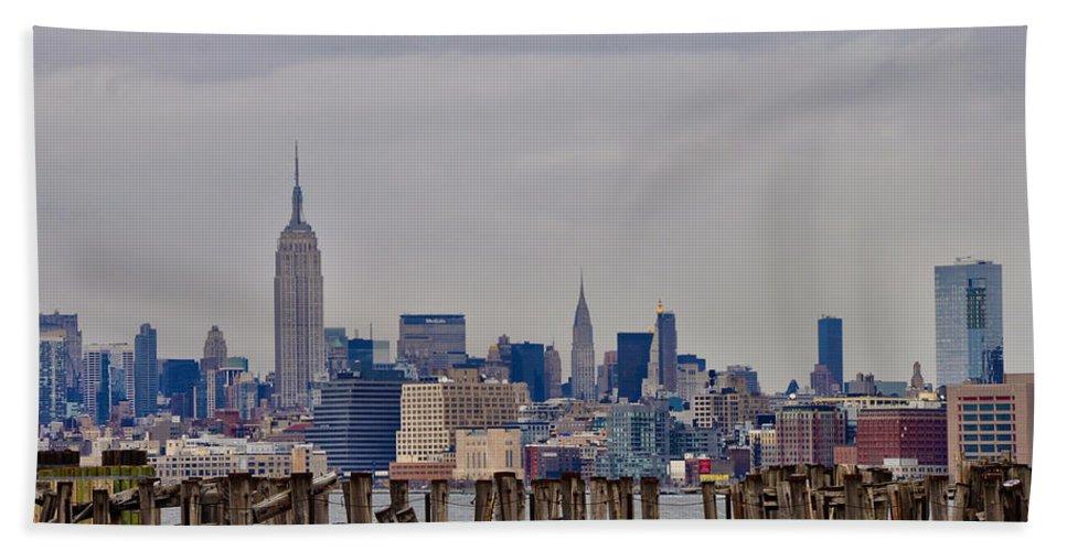Manhattan Bath Sheet featuring the photograph Manhattan View by Bill Cannon
