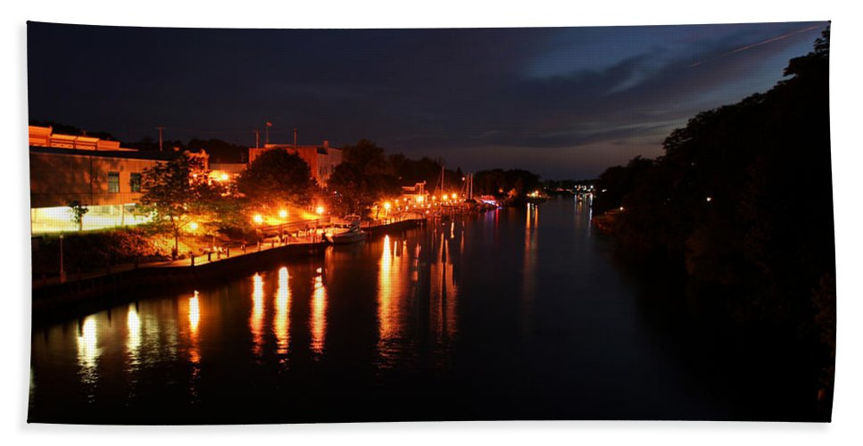 City Bath Sheet featuring the photograph Manistee River Channel by Allan Lovell