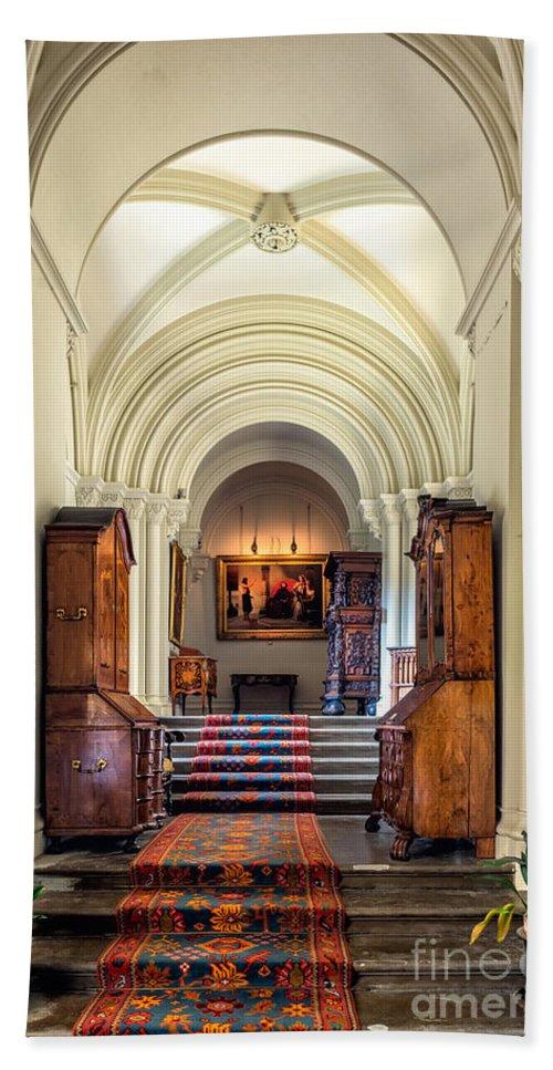 British Bath Sheet featuring the photograph Mansion Hallway IIi by Adrian Evans