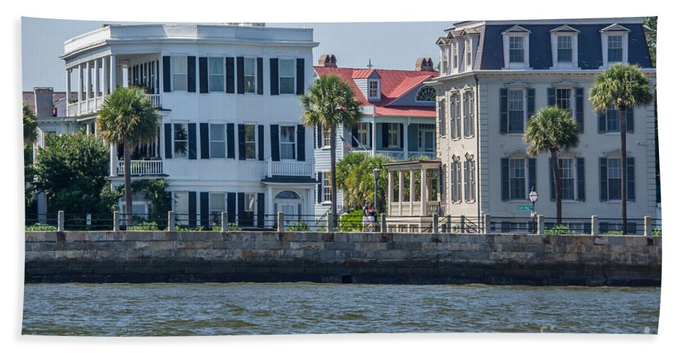Charleston Bath Sheet featuring the photograph Mansions By The Water by Dale Powell