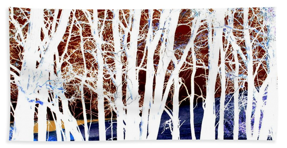 Tree Bath Sheet featuring the photograph Many Trees by Kathy Sampson