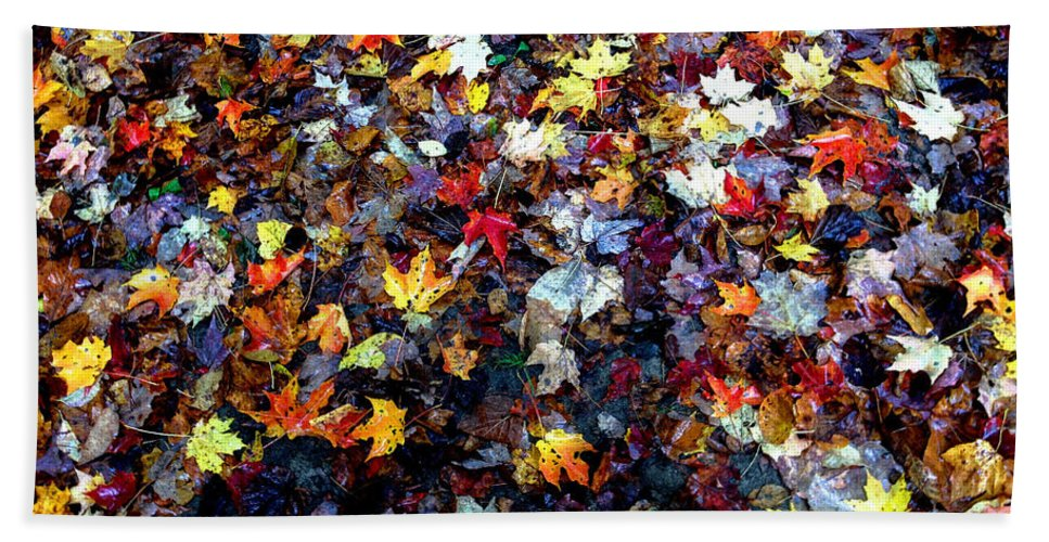 Maple Bath Sheet featuring the photograph Maple Chaos by Wayne King