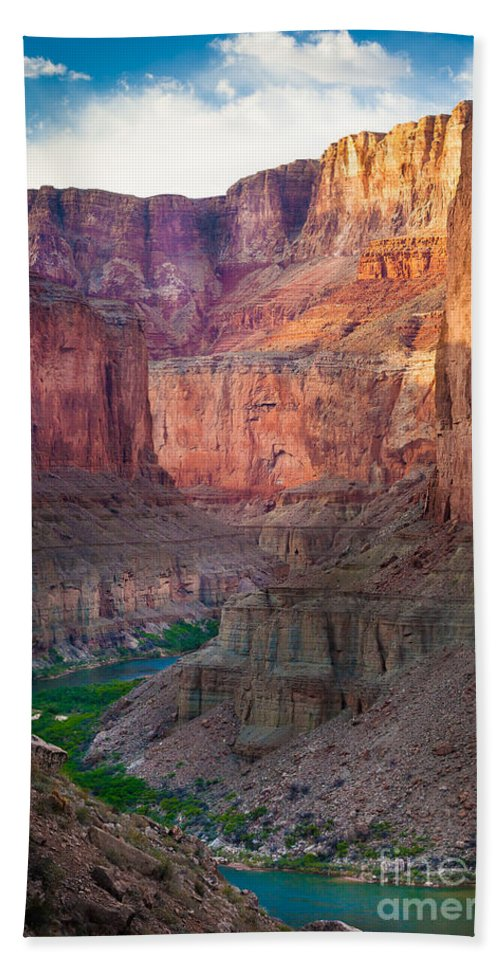 America Hand Towel featuring the photograph Marble Cliffs by Inge Johnsson