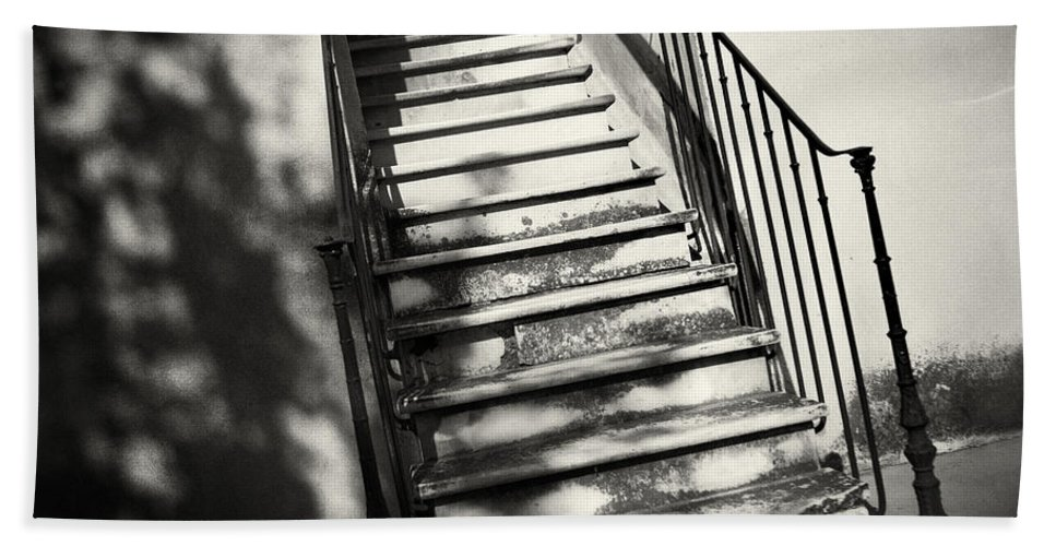 Stairs Hand Towel featuring the photograph Marble Steps by David Hare
