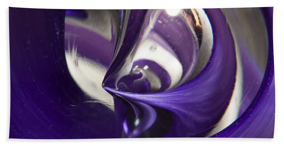 Glass Bath Sheet featuring the photograph Marble Wilkerson Glass 4 by John Brueske