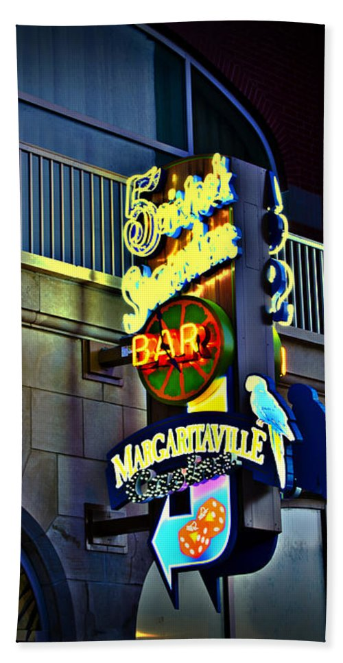 Margaritaville Hand Towel featuring the photograph Margaritaville by Bill Cannon
