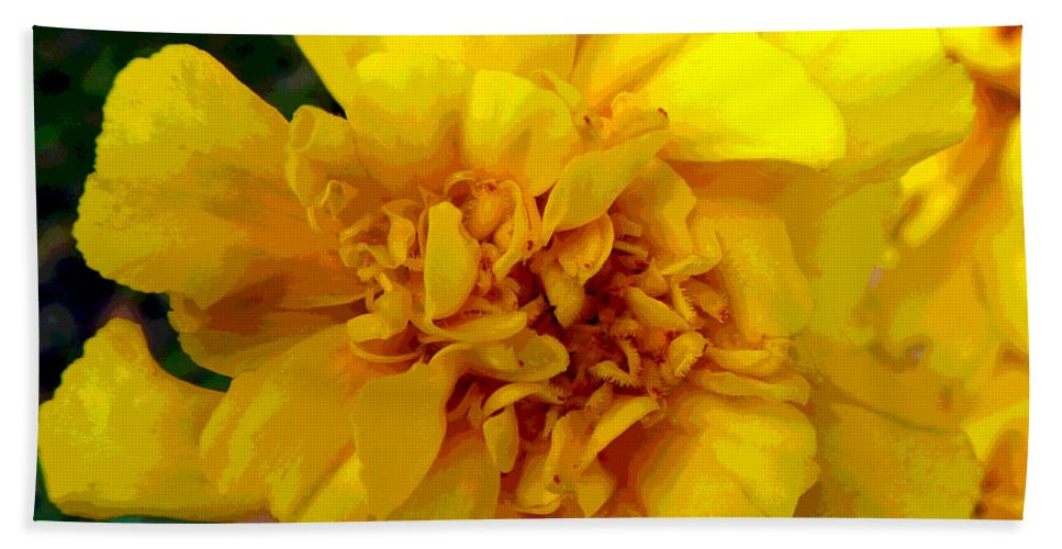Digital Hand Towel featuring the digital art Marigold by Alys Caviness-Gober