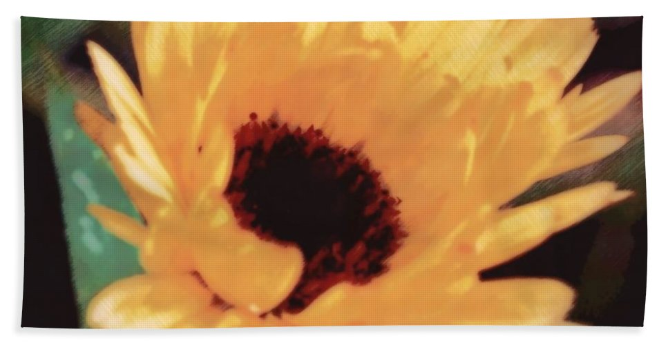 Nature Hand Towel featuring the photograph Marigold Impressions by Photographic Arts And Design Studio