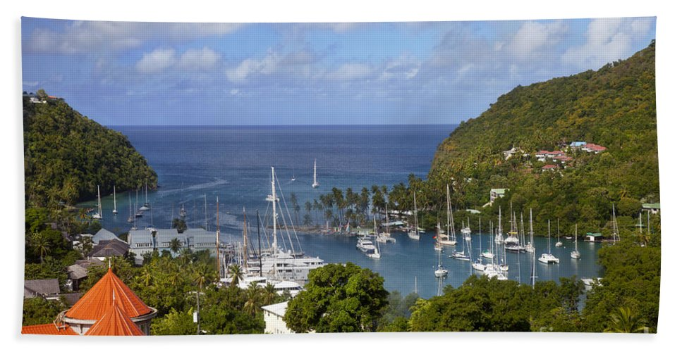 Saint Hand Towel featuring the photograph Marigot Bay by Brian Jannsen