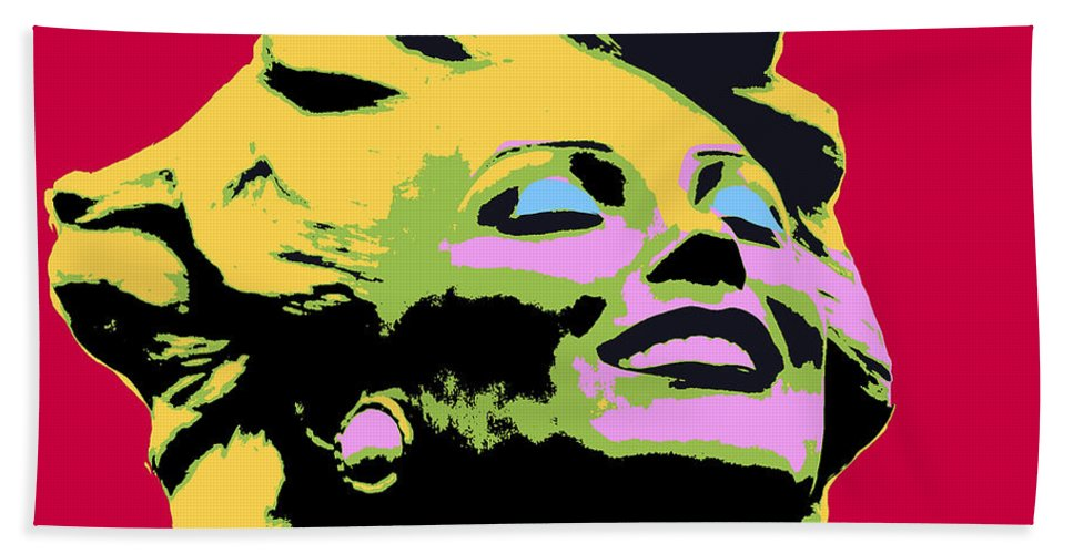 Pop Art Hand Towel featuring the mixed media Marilyn Three by Dominic Piperata